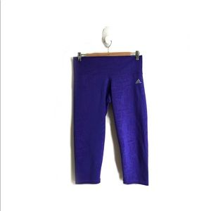 3/30$ ADIDAS Purple Athletic Capris, size Medium